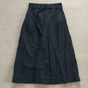 Handmade double gauze cotton midi skirt